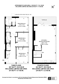 Large floorplan for Cavaye Place, South Kensington, SW10
