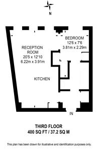 Large floorplan for Sloane Avenue, Chelsea, SW3