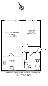 Large floorplan for Adelina Mews, Balham, SW12