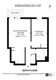 Large floorplan for Palmers Road, Bethnal Green, E2