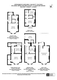 Large floorplan for Cheyne Walk, Chelsea, SW10