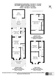 Large floorplan for Garfield Road, Wimbledon, SW19