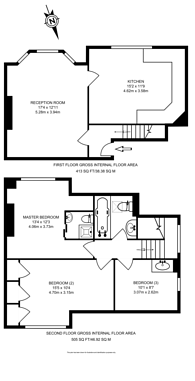 Large floorplan for Corringham Road, Golders Green, NW11