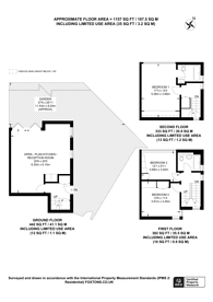 Large floorplan for Rudall Crescent, Hampstead, NW3