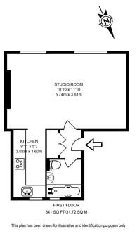 Large floorplan for Formosa Street, Little Venice, W9