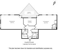 Large floorplan for Jamestown Way, Docklands, E14