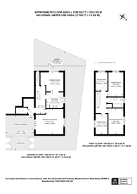 Large floorplan for Reedham Street, Peckham Rye, SE15