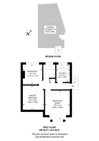 Large floorplan for Buller Close., Peckham, SE15