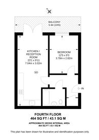 Large floorplan for Taylor House, Docklands, E14
