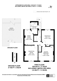 Large floorplan for Stondon Park, Honor Oak Park, SE23