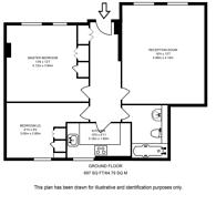Large floorplan for Iverna Gardens, High Street Kensington, W8