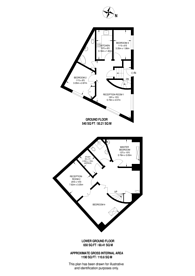 Large floorplan for Marshalsea Road, Borough, SE1