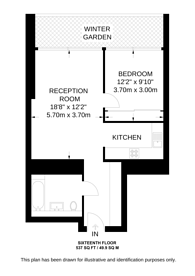 Large floorplan for Landmark Pinnacle, Canary Wharf, E14