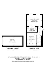 Large floorplan for Montagu Mews North, Marylebone, W1H