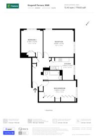 Large floorplan for Kingsmill Terrace, St John's Wood, NW8