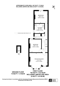 Large floorplan for Bathurst Gardens, Kensal Green, NW10