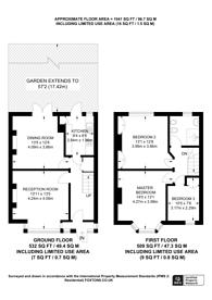 Large floorplan for Lammas Avenue, Mitcham, CR4