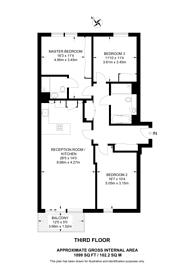 Large floorplan for York Way, St Pancras, N1C