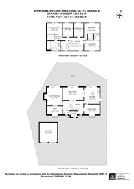 Large floorplan for Vicarage Close, Worcester Park, KT4