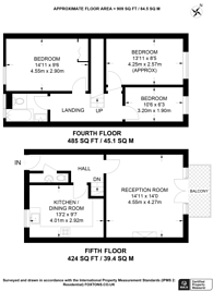 Large floorplan for Wimbourne Street, Islington, N1