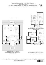 Large floorplan for Oakington Avenue, Wembley Park, HA9