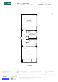 Large floorplan for Hyde Park Square, Hyde Park Estate, W2
