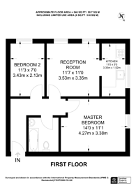 Large floorplan for Melrose Avenue, Willesden Green, NW2