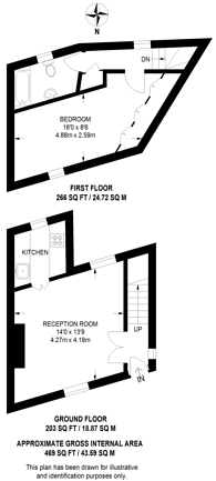 Large floorplan for Elm Row, Hampstead, NW3