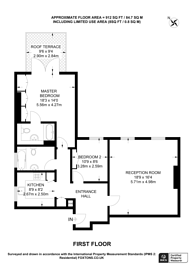 Large floorplan for Bracknell Gardens, Hampstead, NW3