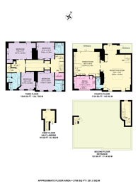 Large floorplan for Brechin Place, South Kensington, SW7