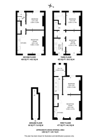 Large floorplan for Marchmont Street, Bloomsbury, WC1N