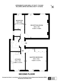 Large floorplan for Holland Park Gardens, Holland Park, W14