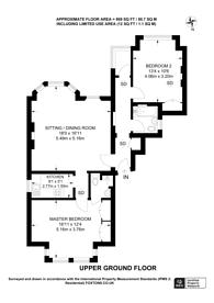Large floorplan for Kendal Place, Putney, SW15