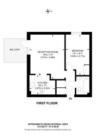 Large floorplan for Great Chart Street, Battersea, SW11