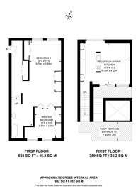 Large floorplan for Mansfield Road, Gospel Oak, NW3