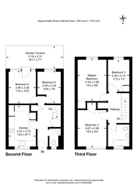 Large floorplan for Brownswood Road, Finsbury Park, N4