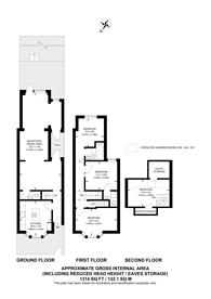 Large floorplan for Chaplin Road, Willesden, NW2
