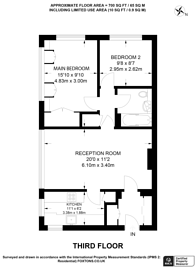 Large floorplan for Knollys Road, Streatham, SW16