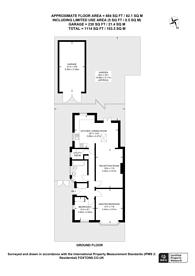 Large floorplan for Lawrence Avenue, New Malden, KT3