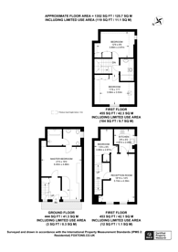 Large floorplan for Maida Avenue, Little Venice, W2