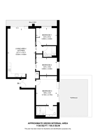 Large floorplan for Lillie, Square, Earls Court, SW6