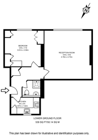 Large floorplan for Millbank, Westminster, SW1P