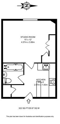 Large floorplan for Ambrosden Avenue, Westminster, SW1P