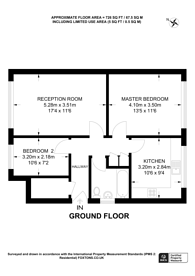 Large floorplan for Rushey Close, New Malden, KT3