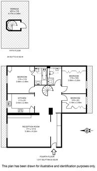 Large floorplan for Onslow Gardens, Chelsea, SW7
