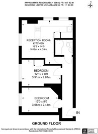Large floorplan for Park Dwellings, Belsize Park, NW3