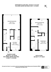 Large floorplan for Chatsworth Road, Maryland, E15