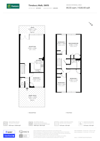 Large floorplan for Timsbury Walk, Roehampton, SW15
