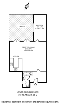 Large floorplan for Redcliffe Square, Chelsea, SW10