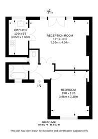 Large floorplan for Grove Lane, Camberwell, SE5